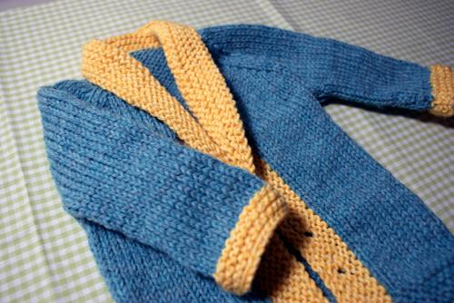 Blueyellowbabysweater